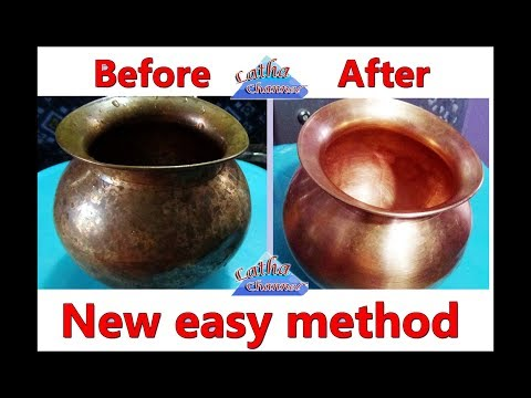 how to clean copper vessels | Before Cleaning After Cleaning at home | Easy method by Latha Channel