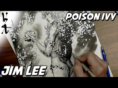 Jim Lee drawing Poison Ivy During Twitch Stream