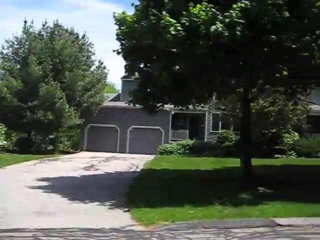 Spruce Pond Village Condos Franklin MA - 1 and 2 car garages.wmv