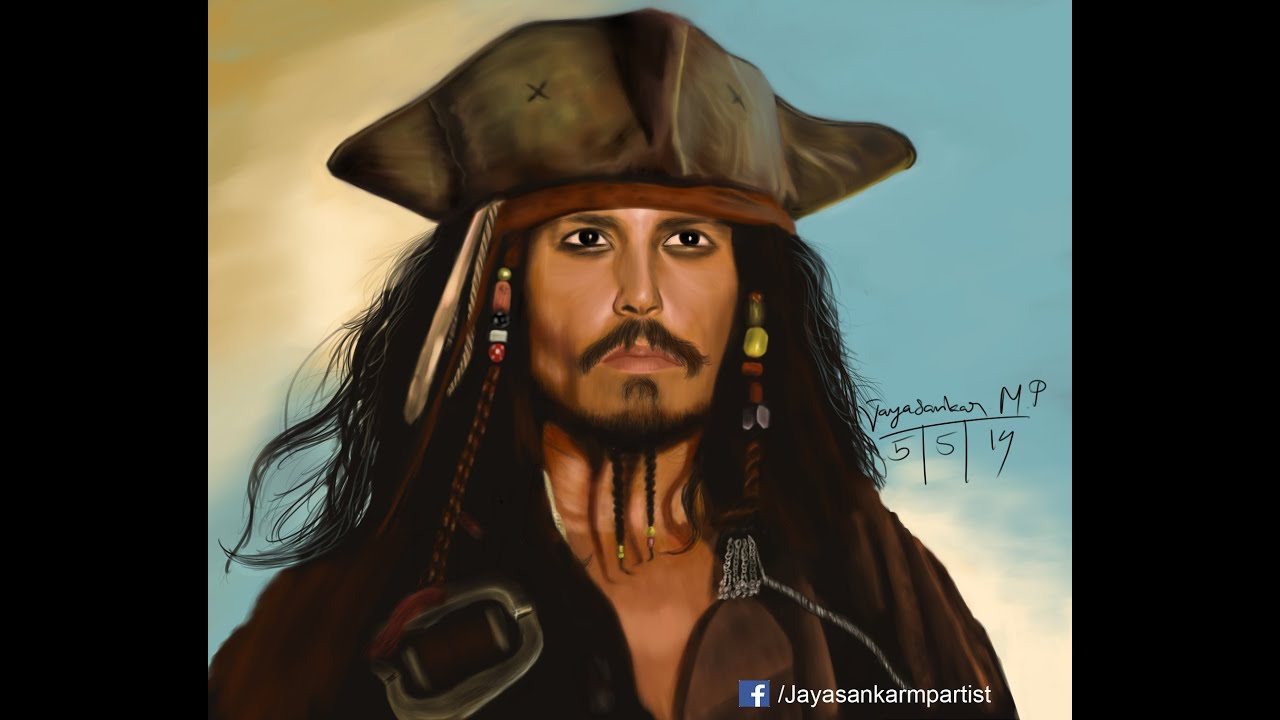 Realistic Portrait Digital Painting #2 | Drawing Johnny Depp as ...