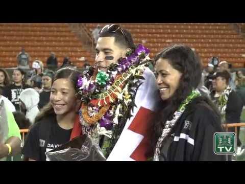Hawaii Football Senior Night Highlights 11-25-17