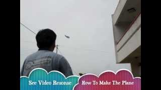 How to make the Best Paper Stunt Plane that flies back to you ( test flight demonstration )!