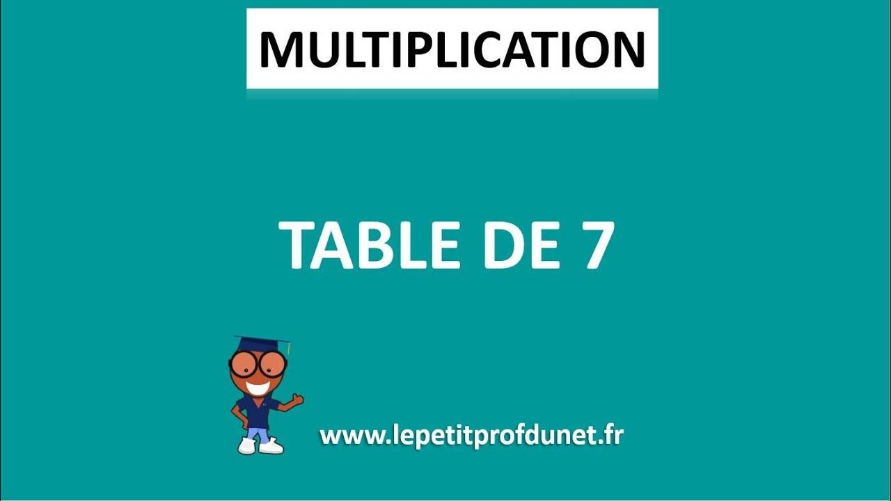 Calcul mental multiplication table de 7 youtube - Youtube table de multiplication ...