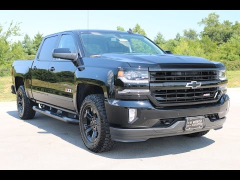 2017 chevy silverado 1500 ltz z71 crew cab midnight edition 6 2l v8 at wilson county chevy youtube. Black Bedroom Furniture Sets. Home Design Ideas