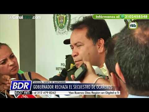Gobernador de Norte de Santander rechaza el secuestro de ocañeros
