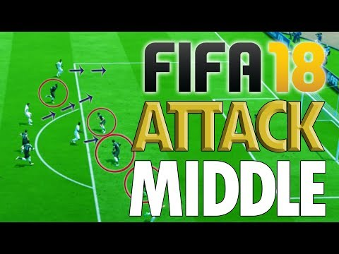 HOW TO ATTACK NEAR PENALTY AREA!! - Fifa 18 Attacking Middle Tutorial: Break Defensive Line
