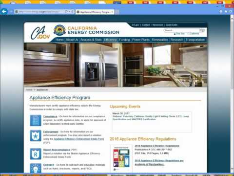 Using the California Energy Commission Website - NLCAA: Find Books, Forms, Newsletter, Database