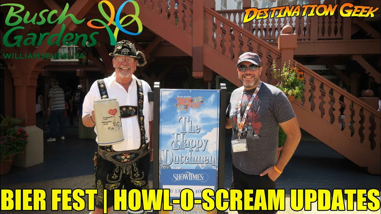 Howl O Scream Updates Bier Fest 2017 Busch Gardens Williamsburg Youtube