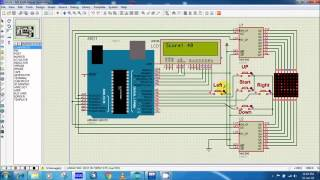 Snake Game On Proteus Using Arduino