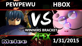 Apex 2015 - PewPewU (Marth) Vs. Hungrybox (Jigglypuff) - Winners Round 2 - SSBM