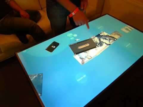 Application for a Multi Touch Table by Lightmaker Amsterdam