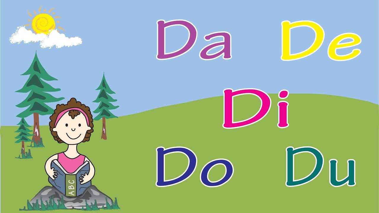 Aprende La Letra D Con Las Vocales