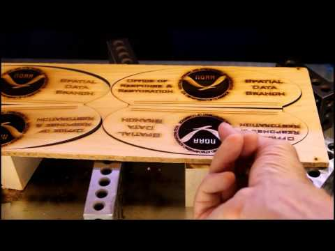 Using a 50 Watt Laser Cutter Engraver to make a plaque in maple