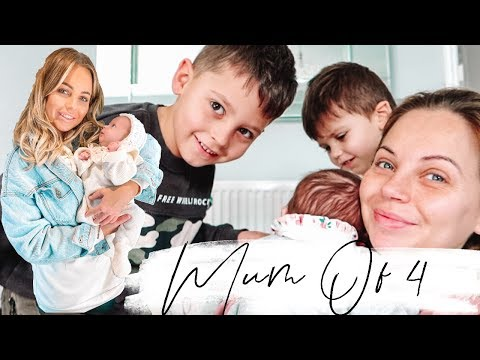 DAY AT HOME WITH 4 CHILDREN | Lucy Jessica Carter