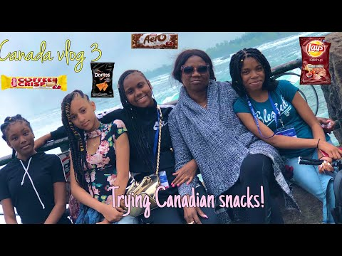 CANADA VLOG 3~ TRYING CANADIAN SNACKS😋