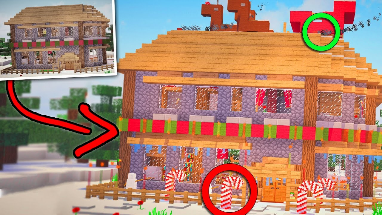 10 Awesome Christmas Decorations For Your Minecraft House Youtube