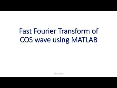 MATLAB Program for Fast Fourier Transform of COS wave