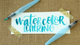 Video How to Create Watercolor Lettering with a Water Brush download MP3, 3GP, MP4, WEBM, AVI, FLV Agustus 2018