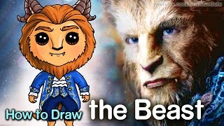 How to Draw the Beast - Beauty and the Beast