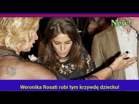 Weronika Rosati robi tym krzywdę dziecku! ki ją zlinczowały!