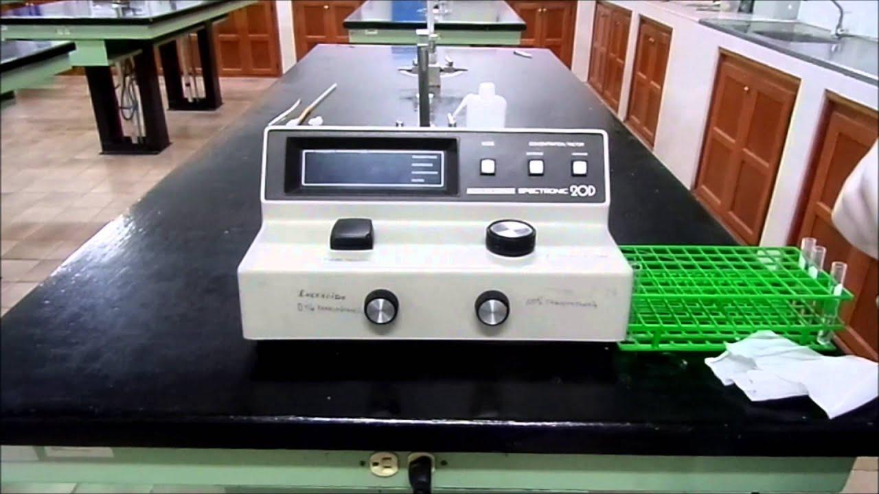 Determinación de colesterol por espectrofotometria - YouTube