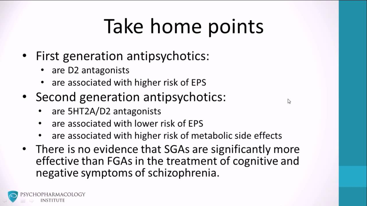 First vs Second-Generation Antipsychotics