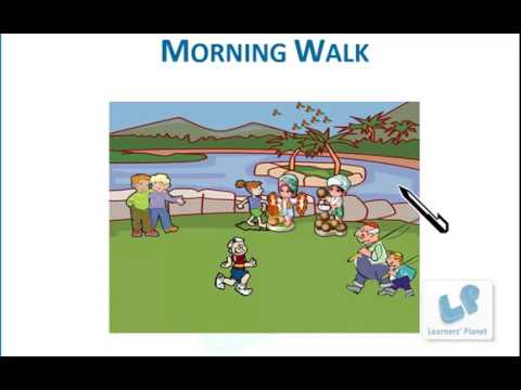 first grade english comprehension practice worksheets on Morning Walk