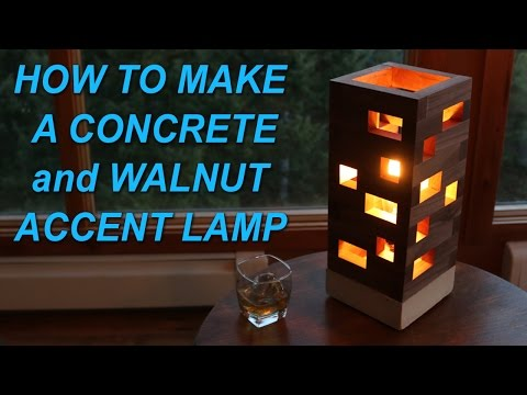 HOW TO MAKE A DIY CONCRETE AND WALNUT ACCENT LAMP