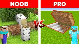 Minecraft NOOB vs PRO: HIDDEN BASE in Minecraft!