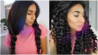 Safe Blow Out and Beach Curls Routine | GRWM
