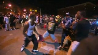 Street fight breaks out among Baltimore protesters
