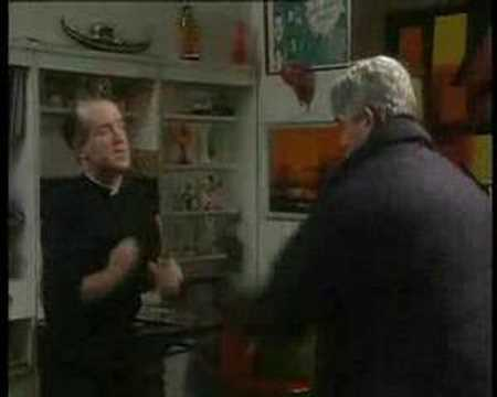 Dancing Father Ted and Father Finnegan