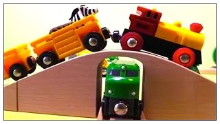 Brio Toy Trains Farm Animals Railway! Quality Build & Play Demo /động Vật Xe Lửa đồ Chơi