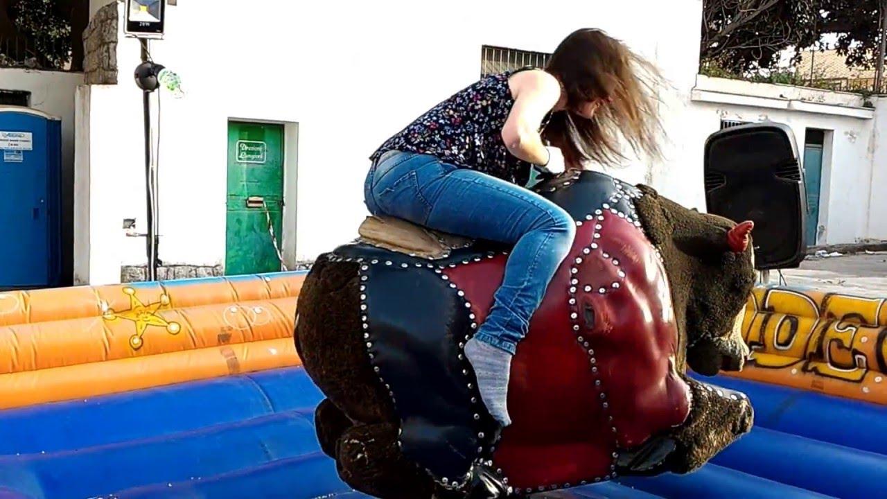 Young Girl Riding Mechanical Bull - Youtube-5024