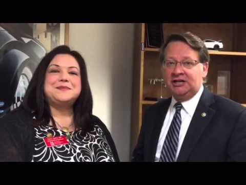 Senator Gary Peters and FPC Sara Lipnitz