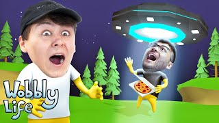PIZZA AN UFO LIEFERN?! (GEHEIMES LEVEL?!) - Wobblys Life