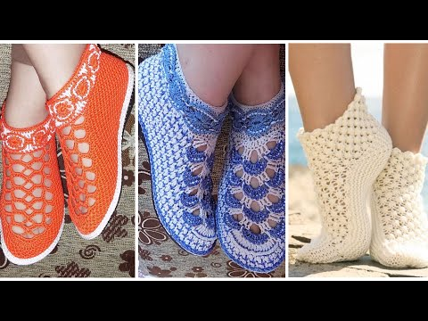 How to make crochet shoes || crochet winter shoes pattern for girls || crochet cozy shoes || thumbnail