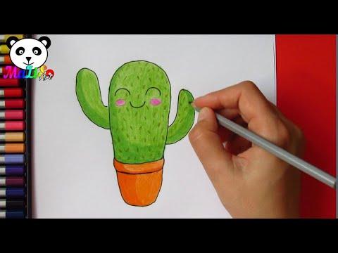 Як намалювати кактус в горщику легко || Как нарисовать милый кактус ||  How To Draw Cute Cactus Easy
