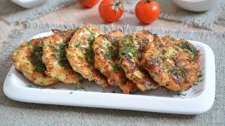 Куриные оладьи с кабачком и сыром видео рецепт