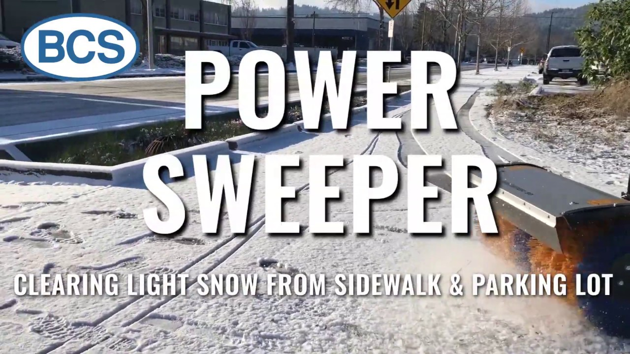 Power Sweeping snow with BCS