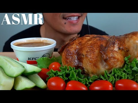 asmr-|-whole-rotisserie-chicken-&-kfc-gravy-|-*messy-eating*
