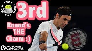 2018 Australian Open Federer 3rd Round's THE Charm | Coffee Break Tennis
