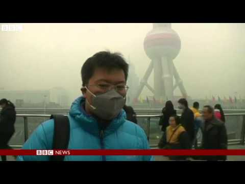 Shanghai suffers one of its worst bouts of pollution   BBC News