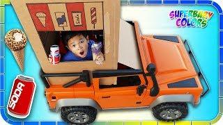 SODA Ice Cream Vending Machine TRUCK!!! Kids Pretend Play!