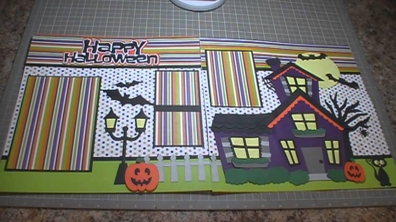 Happy Halloween Scrapbook Layout, Episode 159