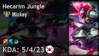 Hecarim Jungle vs Lee Sin - Mickey - KR Challenger Patch 6.24