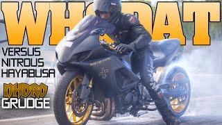 Pt. 1 Nitrous Hayabusa explodes, Indiana vs Alabama grudge bike race Nhdro 2016