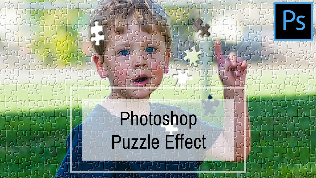 jigsaw puzzle effect in photoshop turn a photo into a faux jigsaw