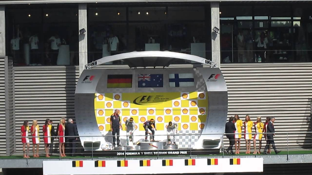 Nico Rosberg Getting Booed on the Podium at the 2014