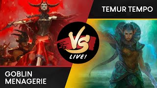 VS Live! | Goblin Menagerie VS Temur Tempo | Ravnica Allegiance Previews | Match 1